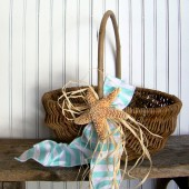 Beach Wedding Program Basket