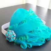 turquoise flower girl headband