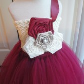 burgundy flower girl tutu dress
