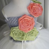 coral and mint flower girl tutu dress