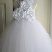 white lace flower girl tutu dress