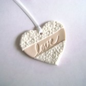 favor tag, wedding, bridal shower, clay tag, heart, love
