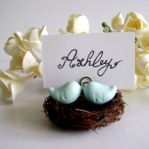Love Birds Place Card Holder, escort card, place card, wedding, reception