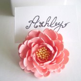 Peony Place Card Holder, wedding, reception, flower decor