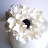 White Poppy Cake Flower, wedding, cake, topper, flower, Poppy
