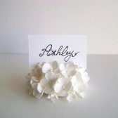 White Hydrangea Place Card Holder, wedding, escort card, reception, decor
