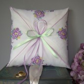 Lavender Floral Ring Bearer Pillow