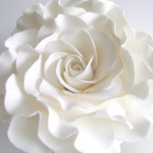 White Rose Cake Decor, flower, wedding, topper, rose
