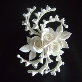 White Rose Hair Clip, wedding, bridal, accessories, hair clip, rose, clay flowers