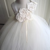 ivory flower girl tutu dress