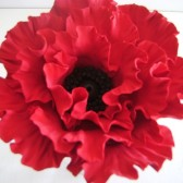 Red Poppy Cake Decor, Topper, flower, wedding, Poppy