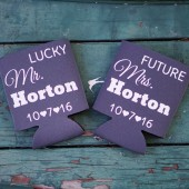 Bride and Groom Can Cozies, Future Mrs. & Lucky Mr., Can Coolers