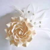 bridal, gardenia, wedding, hair accessories, hair clip
