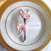 Cherry Blossoms Favors and Place Card Holders