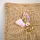 Handmade Burlap Ring Bearer Pillow