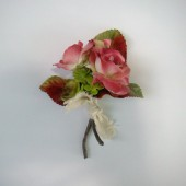 Rose and Succulent Boutonniere