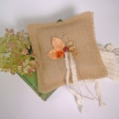 Fall Leaves Ring Bearer Pillow