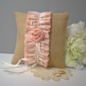 Blush Pink Ombre Ring Bearer Pillow