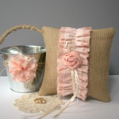 Flower Girla Ring Bearer Set, Blush Ombre