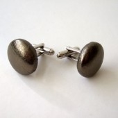 Bronze Leather Cufflinks