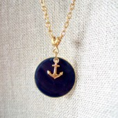 Nautical Theme Anchor Charm Necklace