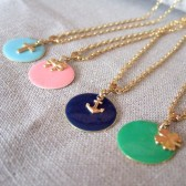 Personalized Enamel Charm Necklaces