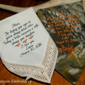 Wedding Gifts For Mom and Dad Camo Wedding Theme Embroidered Wedding Handkerchiefs