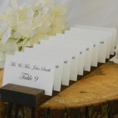 Rustic wood plank place card holders