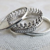 Sterling Silver Crown Stacking Ring Set