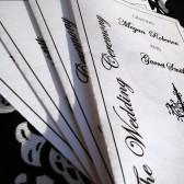 Chandelovely Foldable Wedding Program