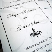 Chandelovely Slender Wedding Program
