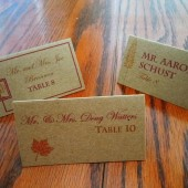 Fall in Love Kraft Paper Escort/Place Card