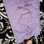 Chandelovely Wedding Program Paddle Fan