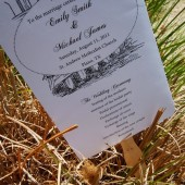 Carolina Chic Wedding Program Paddle Fan