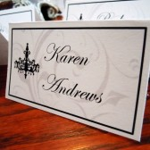 Chandelovely Escort/Place Cards