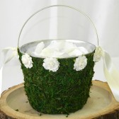 Moss Flower Girl Basket