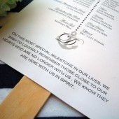 Neat & Nautical Wedding Program Paddle Fan