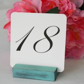 Distressed Tiffany Blue Table Card Holder