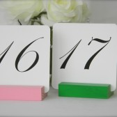 PInk and Green Wedding Table Card Holders