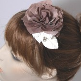 Mocha Brown Bridesmaid Hair Clip,Floral Head Piece, Vintage style Wedding, Ready to ship-SIMONE