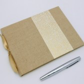 Unlined Linen Guest Book