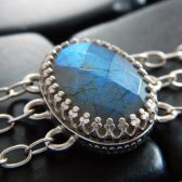 Blue Flash Labradorite Bracelet