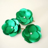 Dark Green hair pins for wedding bridesmaids, flower girls