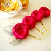 Red Rose Golden Pin Holidays wedding party