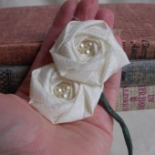 Ivory Flower Boutonniere