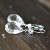 Colorless Gemstone Bridal Earrings
