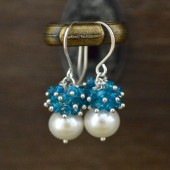 Teal Blue Bridal Earrings