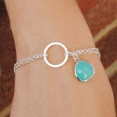 Aqua Blue Bridesmaid Bracelet