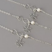Snowflake Bridesmaid Bracelet