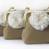 Country Shabby Chic Rustic Wedding Clutch